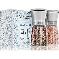 Zout- en Pepermolen, 2-Delige Set met Keramische Maalwerk - Navulbaar Design Kruidenmolen | Peper- & Zoutmole uit RVS…