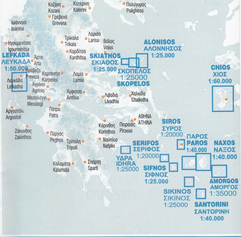 Syros Greece 120k Hiking map Anavasi Amazoncouk Anavasi