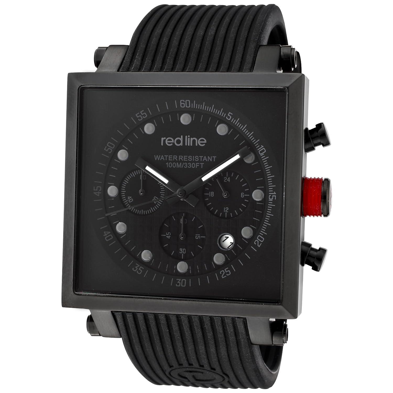 Red Line – rl-50036-blk – Zeigt Herren – Quartz Chronograph Armband Gummi schwarz