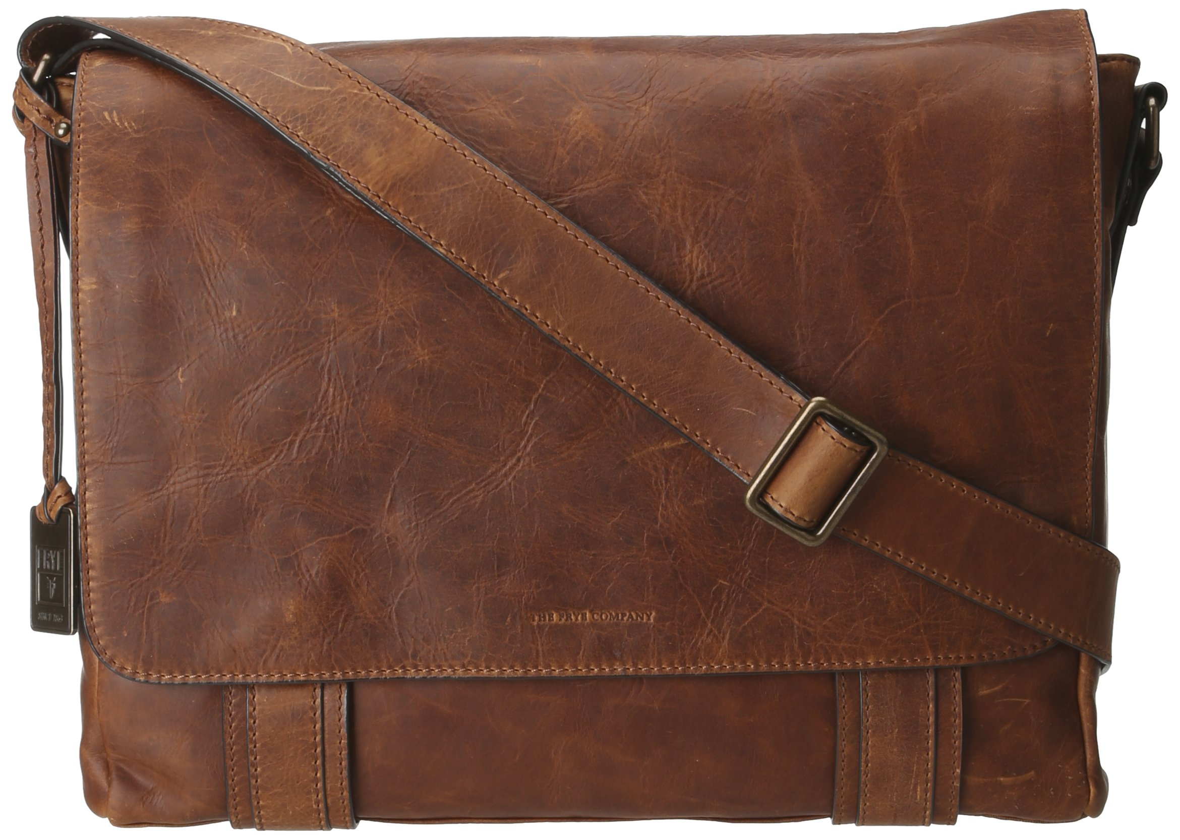 FRYE Men's Logan Messenger Bag, Cognac, One Size