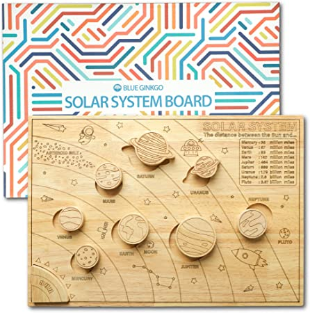 Wooden Solar System Board