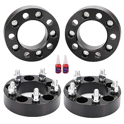 """FLYCLE 4Pcs 1.25"""" 5X4.5 to 5x5 Wheel Spacers Adapters (Change Bolt Pattern) with 1/2x20 Studs for Jeep Jk Wk Wj Xk Wheels on Tj Yj Kk Xj Mj Kj Zj: Automotive"""