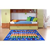 Ottomanson jenny collection educational rug, JNA370036-5X7, Blue