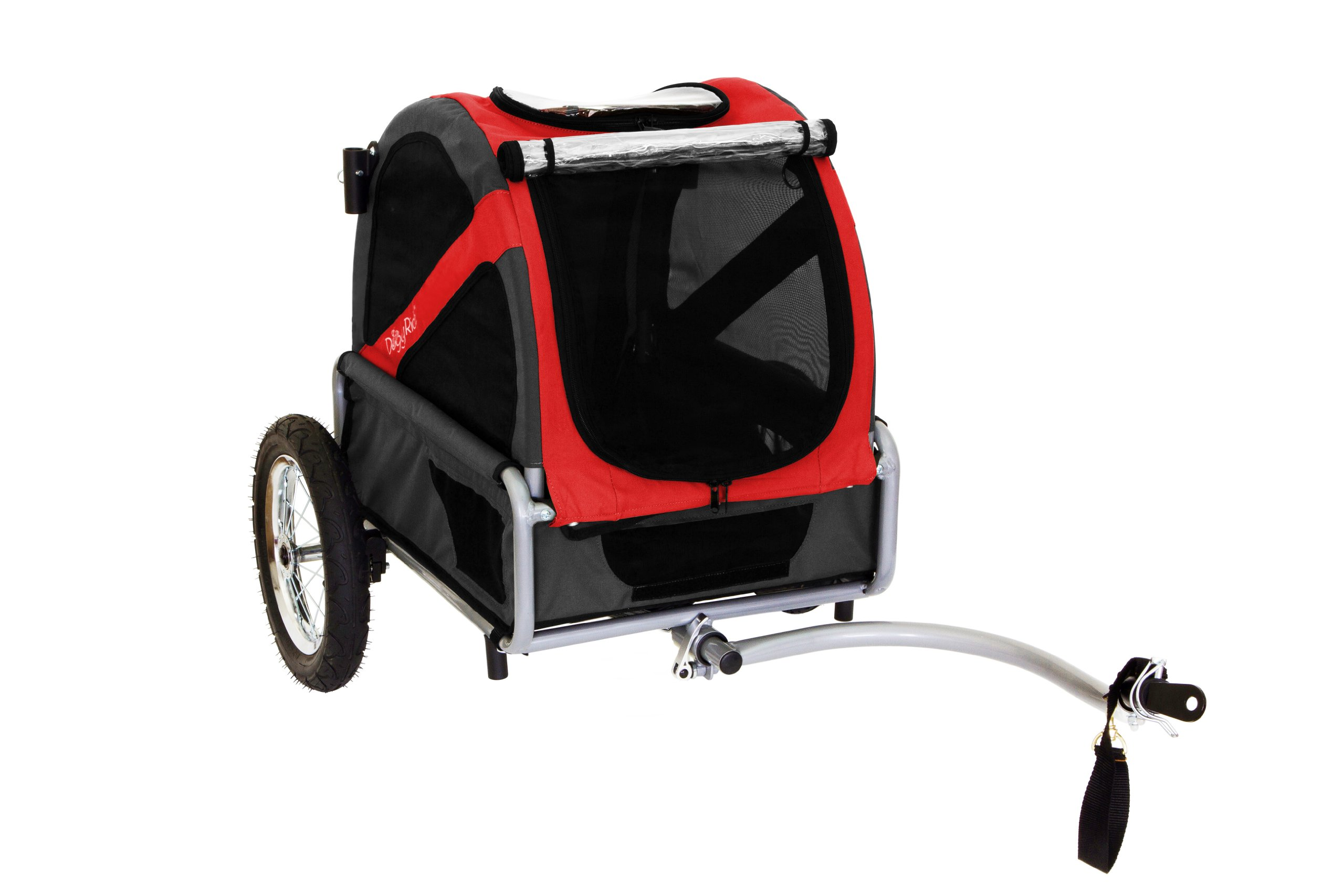 DoggyRide Mini Dog Bike Trailer, Rebel Red/Black by DoggyRide