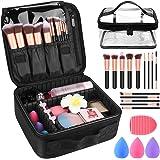 "Makeup Travel Case, with DIY Adjustable Divider Cosmetic Train Bag 10.3"" Organizer Perfect Set Contain 14pcs Premium…"