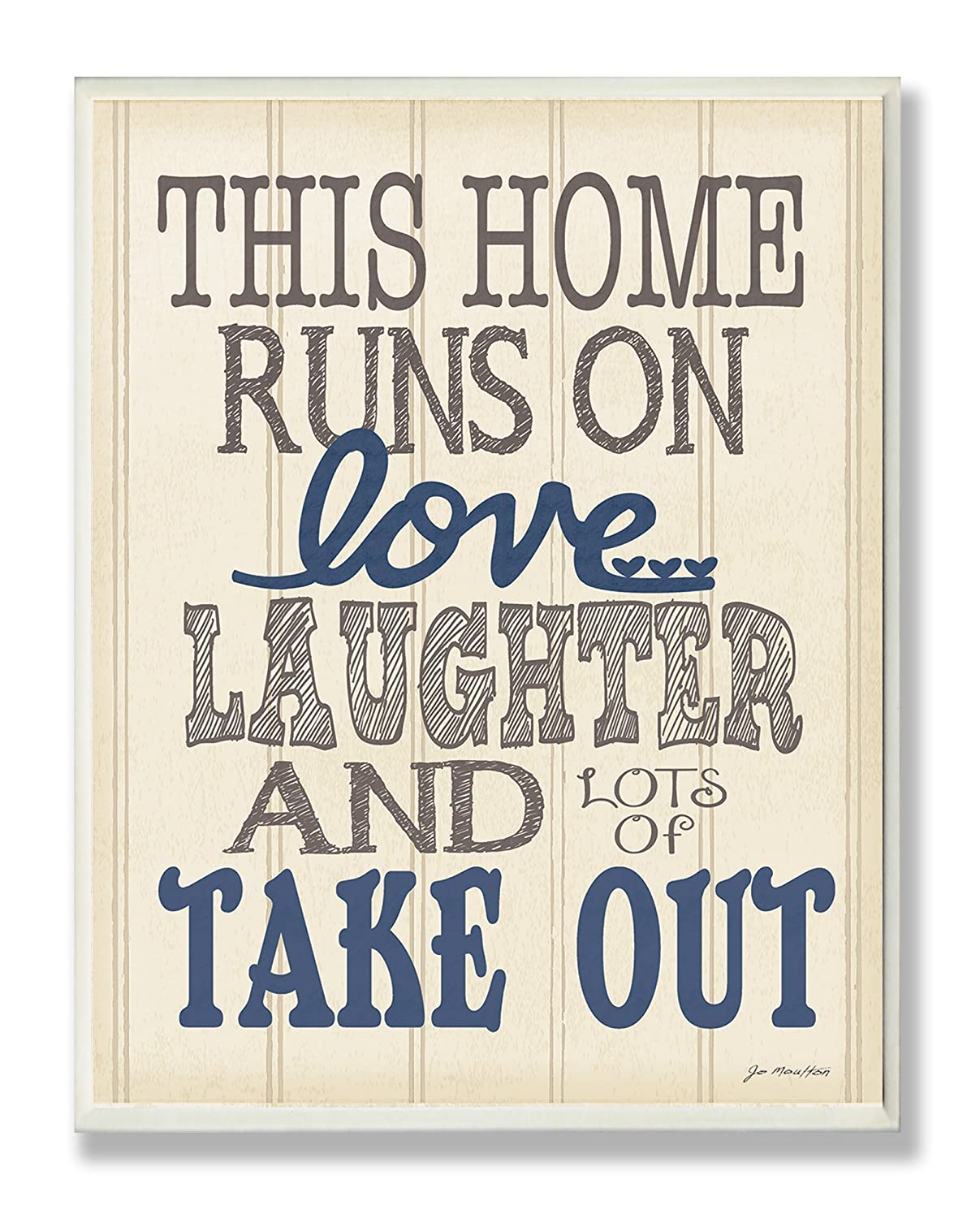 Proudly Made in USA The Stupell Home Décor Collection mwp-101 10 x 0.5 x 15 Stupell Home D/écor This Home Runs On Love Wall Plaque