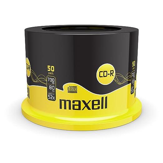 126 opinioni per Maxell CD-R80XL confezione da 50 Torre CD vergini 80 min 700 MB velocità 52x