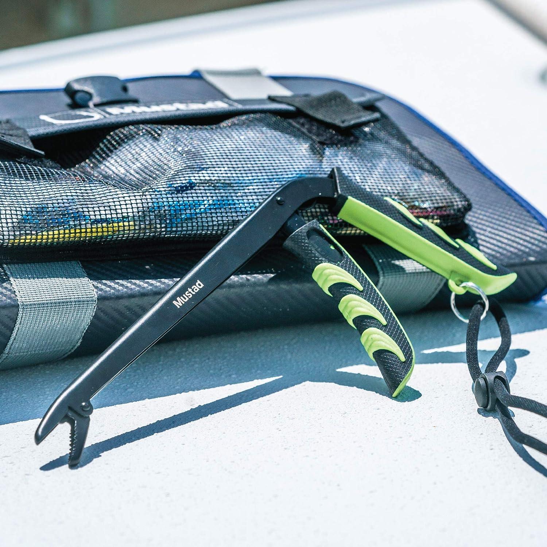 Pistol Grip Mustad Pistol Dehooker Black Teflon Finish Spring Loaded Green