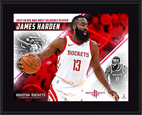 71f66c11cc6e James Harden Houston Rockets 10.5 quot  x 13 quot  2018 NBA MVP Sublimated  Plaque - NBA