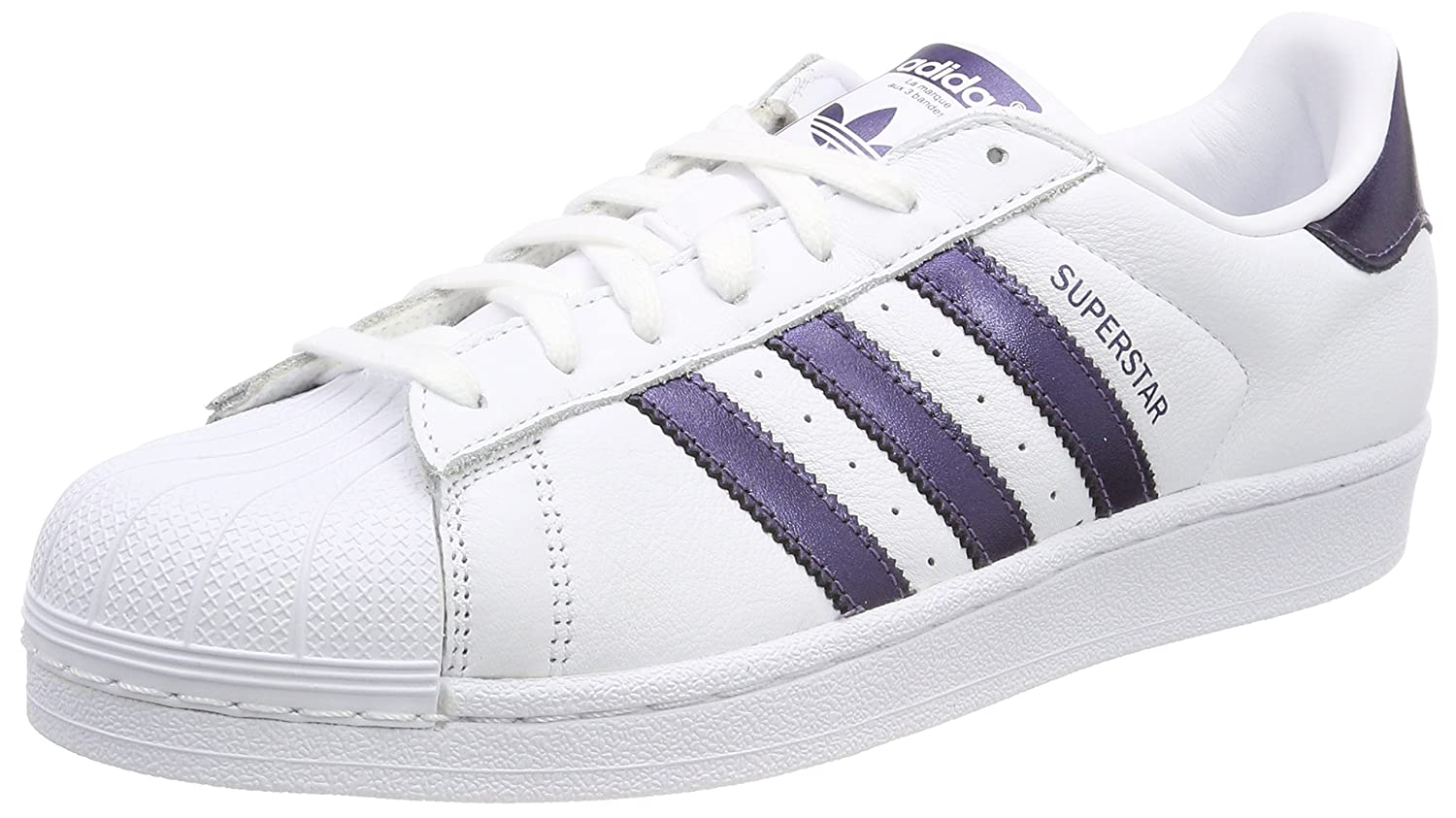 adidas Women  s Superstar Fitness Shoes White-Gold 0fc8e442a8a9