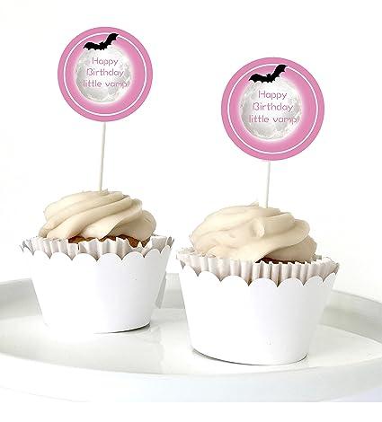 Amazon.com: 12 Vampirina – Toppers Para Cupcakes Vampirina ...