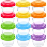 WeeSprout Leakproof Baby Food Storage | 12 Container Set | BPA Free Small Plastic Containers with Lids | Lock in…