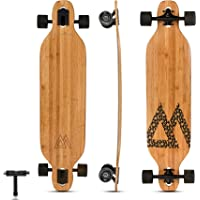 Magneto Bamboo Carbon Fiber Longboards Skateboards for Cruising, Carving, Free-Style, Downhill and Dancing   Kicktails…