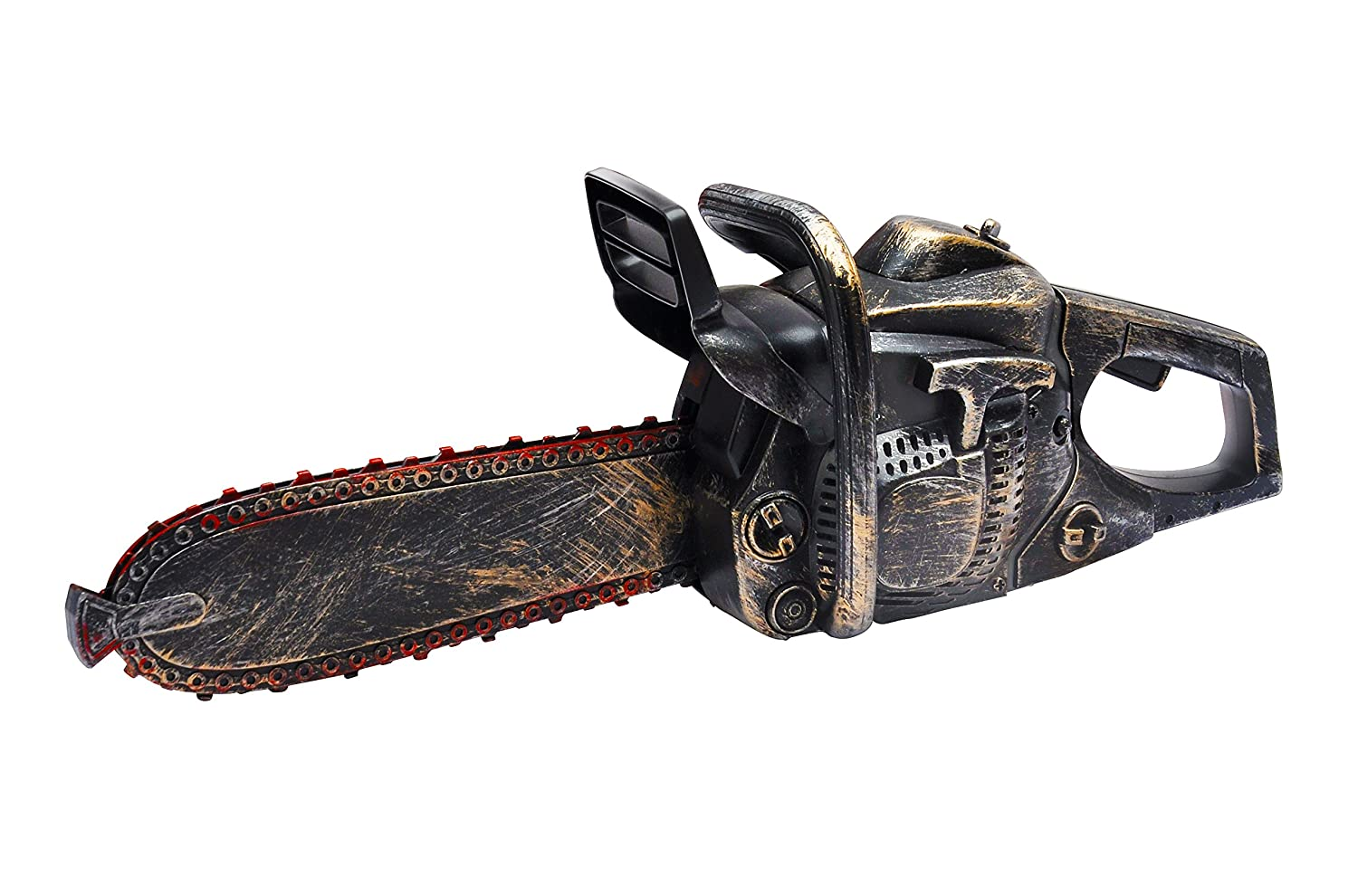 Liberty Imports Bloody Rusty Chainsaw Motion Sound Battery Operated Halloween Massacre Role Play Prop Accessory (16 Inches)