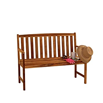 Admirable Alexander Rose Acacia Monte Carlo 2 Seater Garden Bench 4Ft Pabps2019 Chair Design Images Pabps2019Com