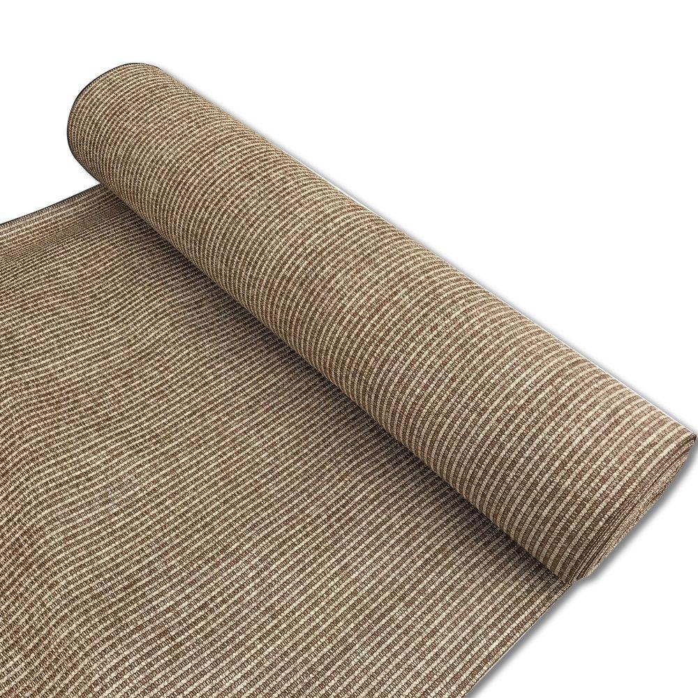 Alion Home Custom 180 GSM Sunblock Shade Fabric, 95% UV Block Breathable Mesh for Patio, Pergola, Greenhouse, Barn - No Grommets (12' x 50', Walnut)