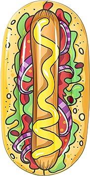 BESTWAY 43248 Colchoneta Hinchable Hot Dog, 190x109 cm