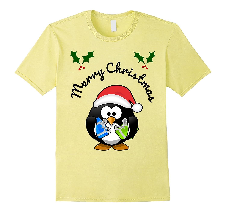 Christmas Shirts for Holidays for Kids - Santa Penguin Tee-ANZ ...