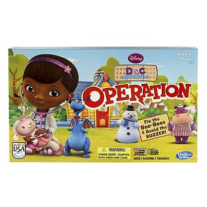 Amazon Com Disney Doc Mcstuffins Operation Game Toys Games