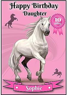 Personalised Prancing Horse Birthday Card