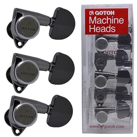 Gotoh SG301 Locking Clavijas Clavijas con Magnum Lock 3 x 3, Cosmo Black