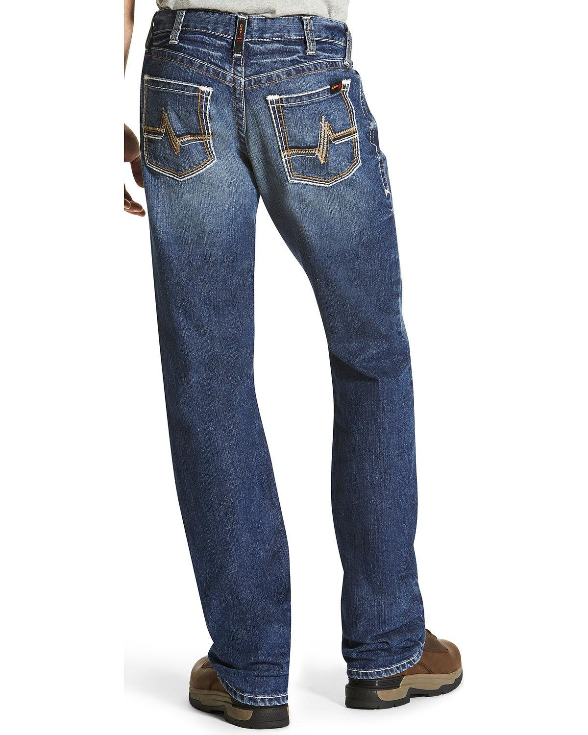 Ariat Men's M4 Flame Resistant Alloy Boot Cut Jeans Indigo 34W x 30L