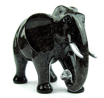 Amazon.de: Deko Elefanten Figur, Elefant In Edler Naturstein Granit Optik,  Geschenk Set Geschenkbox
