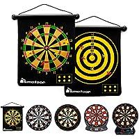 Magnetisch Dartbord voor Kinderen en Volwassenen - Dartbordset Dubbelzijdig Dartbord en 6 veilige darts - Magnetisch…