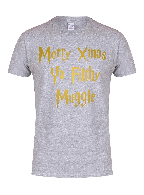 Merry Xmas Ya Filthy Muggle - Unisex Fit T-Shirt - Fun Slogan Tee