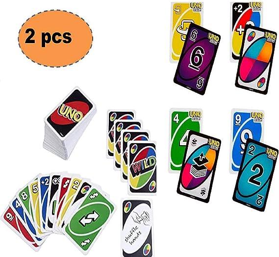 ML Pack de 2 Juegos de Cartas Tradicionales+ Cartas Flip Juego de Mesa para niños y Adultos: Amazon.es: Juguetes y juegos