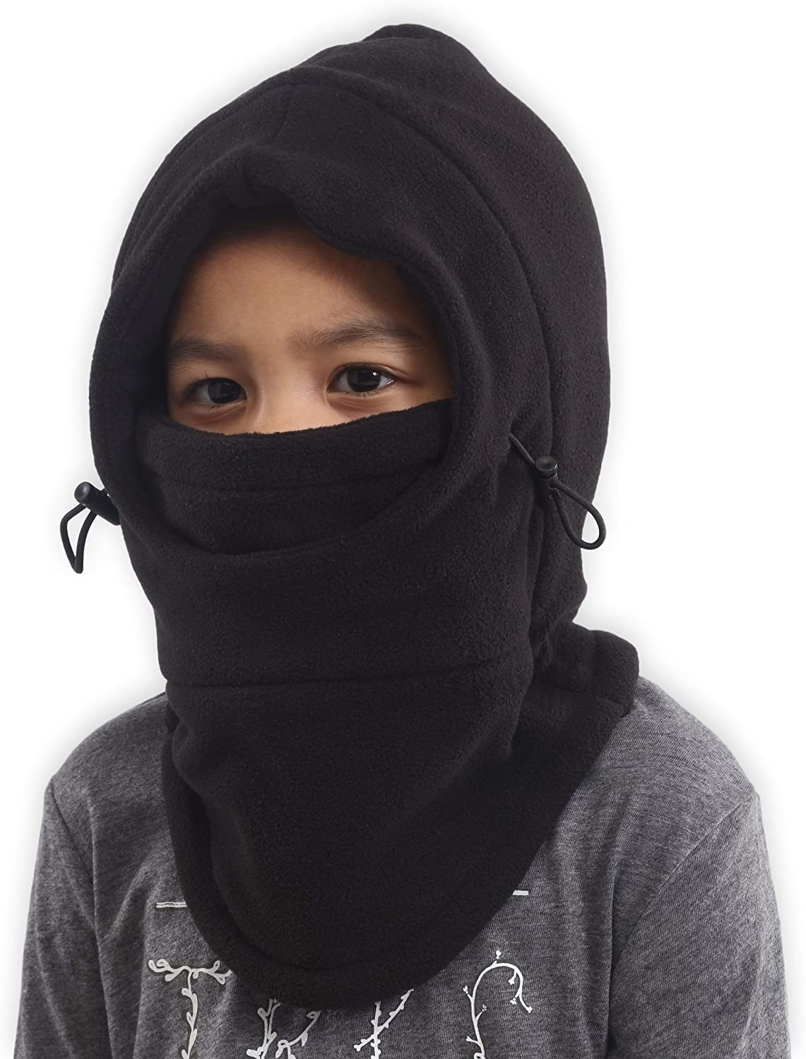 Kids Ski Mask - Winter Face Mask with Hood - Cold Weather Balaclava Snow Mask & Neck Warmer for Boys & Girls