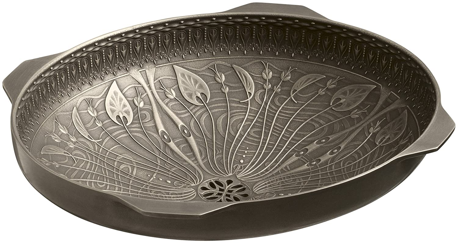 kohler k14297mp1 lilies lore cast bronze bathroom sink medium patina under mounted sinks amazoncom