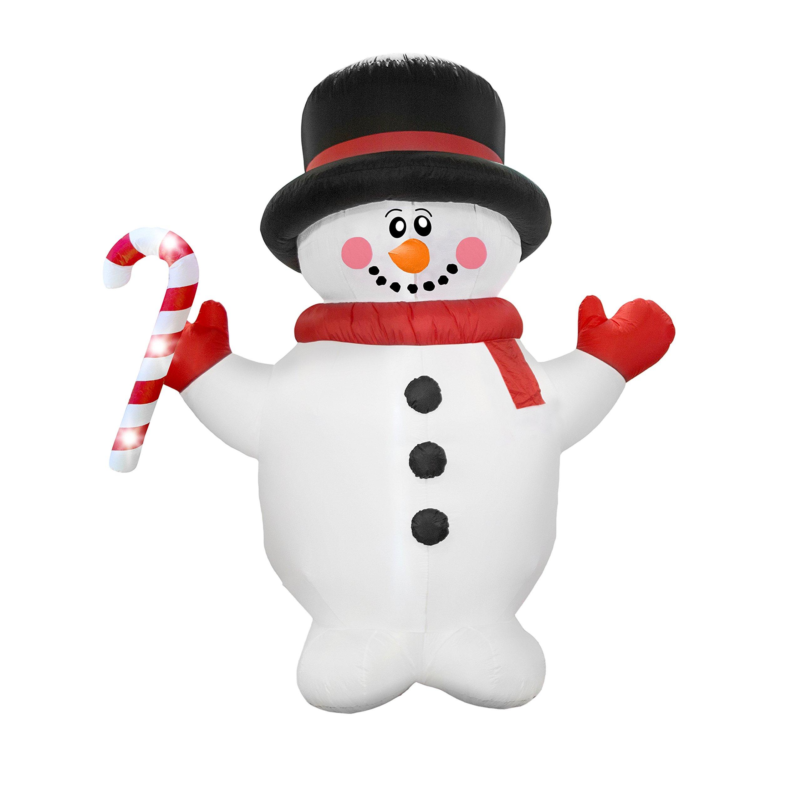 AirFormz AIR12510 Airblown Inflatable Holiday Yard Decoration, 7.5' Tall, Snowman