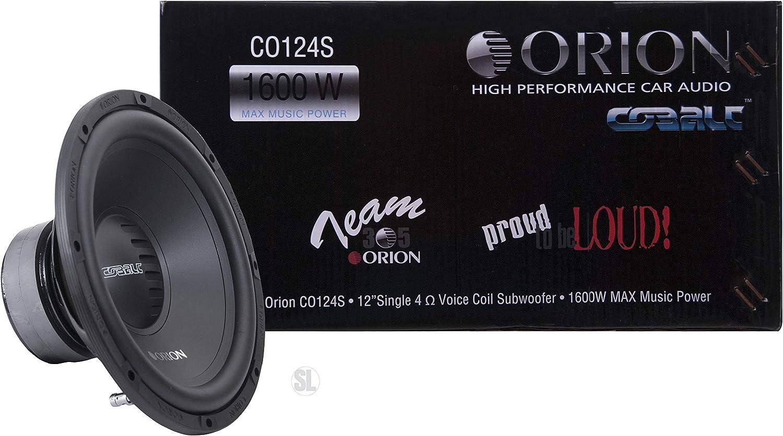 Orion XTR124D 12 XTR Series 1200W Peak Power Dual 4-ohm Car Audio Base Subwoofer