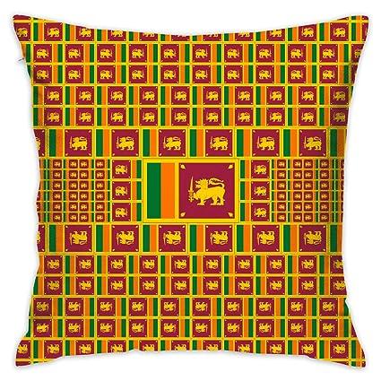 Amazon Com Akacu Sri Lanka Flag Square Throw Pillow Covers