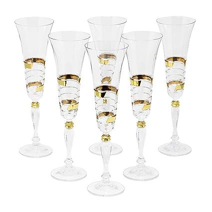 Amazon com | Glazze Crystal APP-081-GL APPALACHIA Gold Champagne