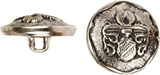 product image for C&C Metal Products 5029 Heraldic Metal Button, Size 36 Ligne, Antique Nickel, 36-Pack
