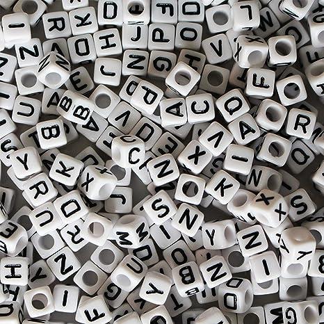 49404f8df0be Cuentas Letras Alfabeto - 1000 Piezas Letra perlas para Brazaletes ...