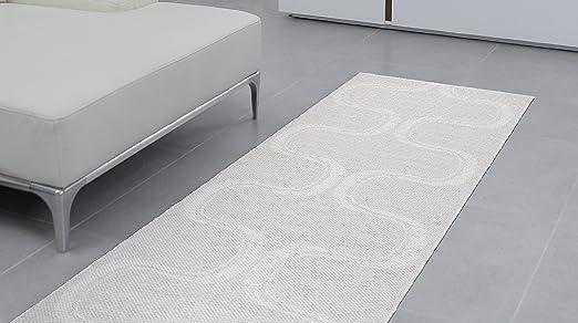 Swedy Alfombra para Cocina, Color Blanco, 60 x 148 cm Mod. Waves ...