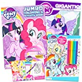 My Little Pony Coloring Book Super Set with Stickers (4 MLP Books - Over 375 Pages and 75 My Little Pony Stickers Total Featu