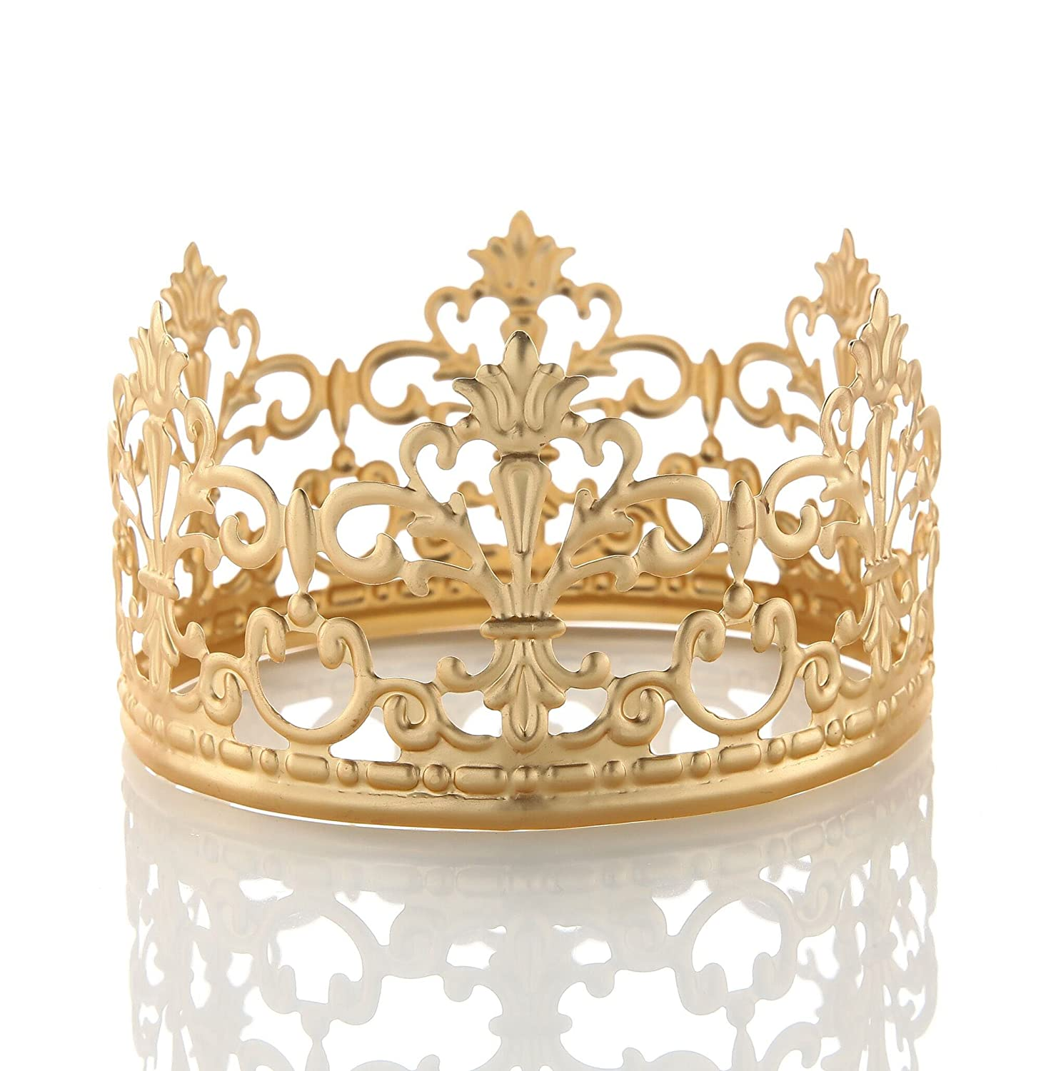 Cake Topper Gold Crown Queen Princess Baby Girl Party ...
