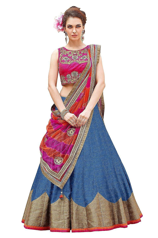 Women's Bhagalpuri Silk Lehenga Choli