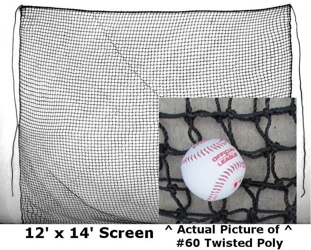 Baffle Net 12/' x 14/' #84 Twine XHeavy Duty Baseball Softball Batting Cage Screen