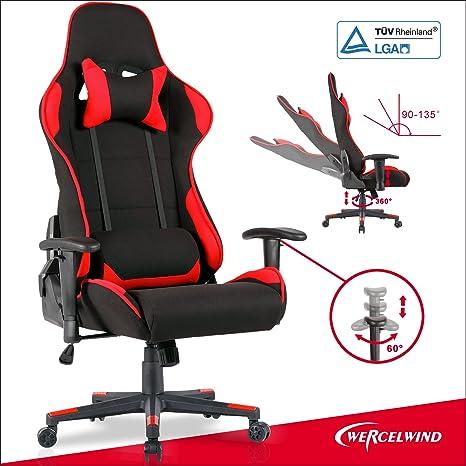 UEnjoy silla de oficina juegos de carreras sillas ordenador silla ejecutiva Rocker negro & rojo