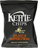 Kettle Chips Sea Salt and Crushed Peppercorns 40 g (Pack of 18)