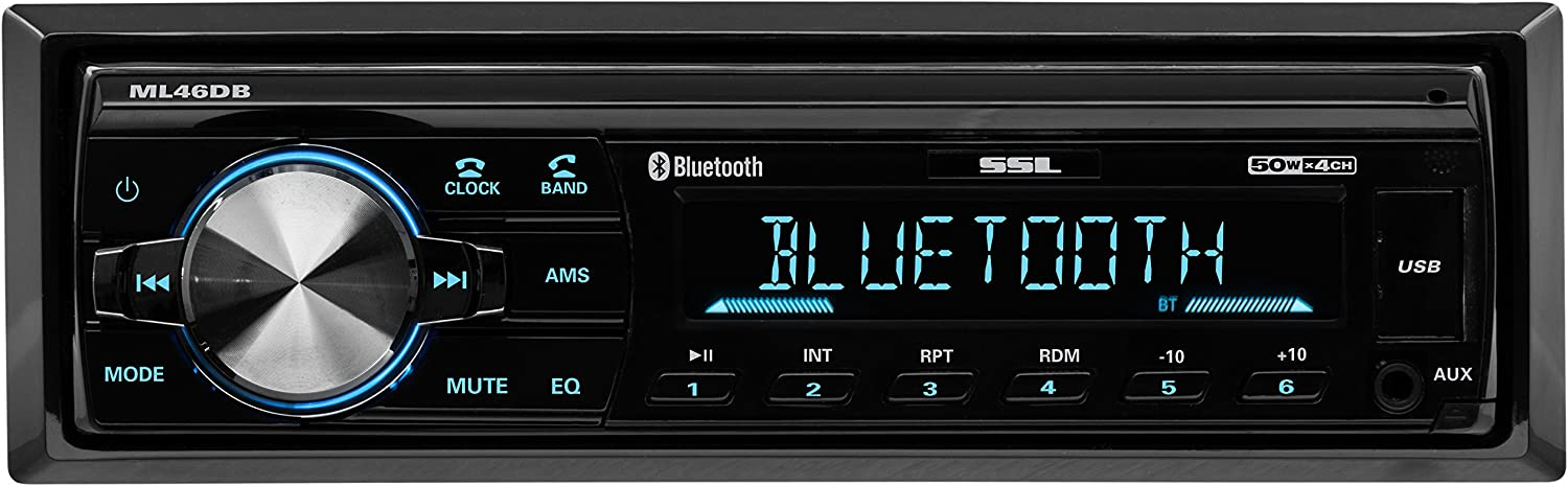 Sound Storm ML46DB Car Receiver - Bluetooth / MP3 / USB, FM Radio ONLY (No AM), (No CD/DVD)
