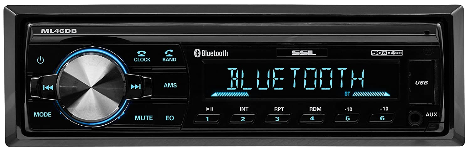 SoundStorm ML41B Bluetooth Enabled, Single Din, MP3 Compatible, Digital Media, FM Receiver Sound Storm Laboratories