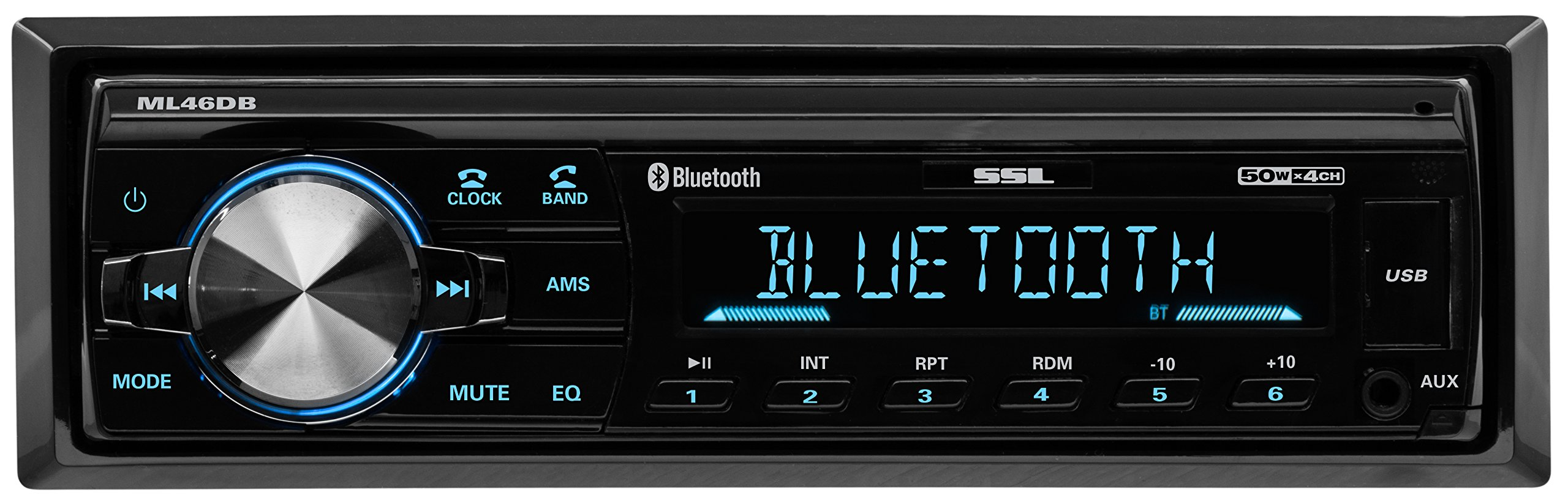 Sound Storm ML46DB Car Receiver - Bluetooth/MP3/USB, FM Radio ONLY (No AM), (No CD/DVD) by Sound Storm Laboratories (Image #1)