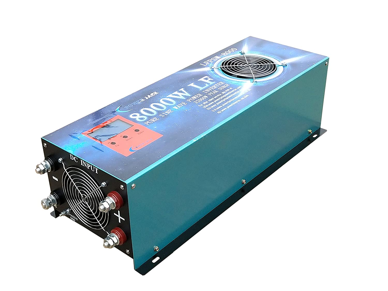 POWERJACK ATS Inverter 5000W LF pura onda sinusoidale DC 24V a AC 230V power inverter Convertitore di tensione inverter a onda sinusoidale pura,Carica batteria 80A//UPS