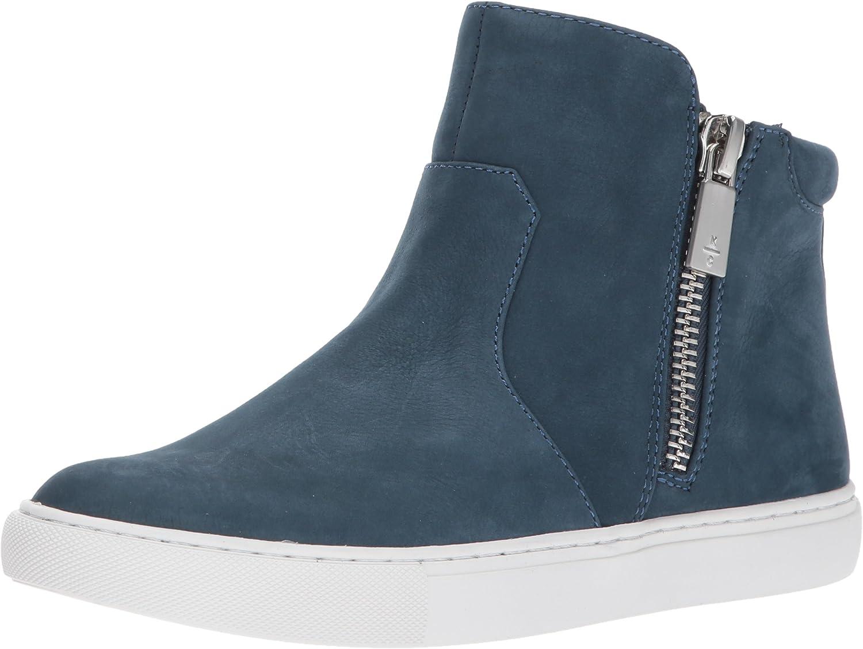 Double Zip Nubuck Fashion Sneaker